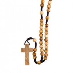 Chapelet sur corde en olivier